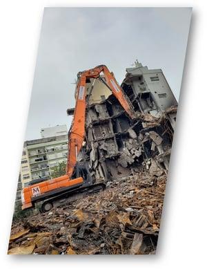 Grupo Mitre demolicion de Torres y Liva Mar del Plata